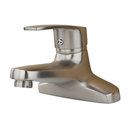 Modern 304 Stainless Steel Bathroom Sink Faucets Nickel Brushed Single Holder Dual Hole Hot Cold Mixer Deck Mounted Basin Taps SSMP030