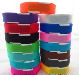 Wholesale Mix colours Sports led Digital Display touch screen watches Rubber belt silicone bracelets Wrist watches LT011