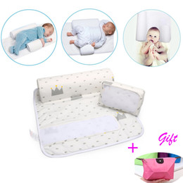 New Baby Infant Newborn Sleep positioner Anti Roll Pillow With Sheet CoverNew Baby Infant Newborn Sleep positioner Anti Roll Pillow With She