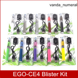Ego CE4 starter kit atomizer Electronic cigarette e cig kit EGO-T 650mah 900mah 1100mah battery blister case Clearomizer E-cigarette Dhl