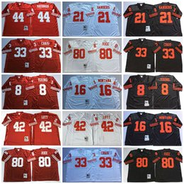 Wholesale Throwback Football Jerseys Steve Young Joe Montana Deion Sanders Ronnie Lott Rathman Jerry Rice Dwight Clark White Red Black