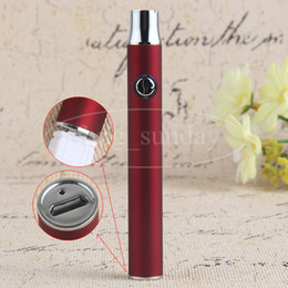 Small Custom Preheating Button E Cigs Vapes Pen Variable Voltage eVod 380mAh LO Bottom Charge Batteires fit 510 .5ml Cartridge G2 Metal