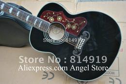 2017 cordes de guitare acoustique noir Vente en gros SJ200 noir 12 cordes guitare acoustique en Chine guitare en stock expédition gratuite bon marché cordes de guitare acoustique noir