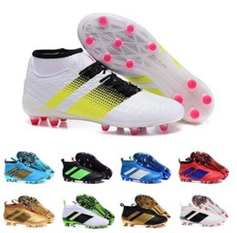 Wholesale 2017 Cheap Online Soccer shoe ace MESSI Ace16 Purecontrol FG AG Outdoor Football Boots Mens Football shoes Best Sell size
