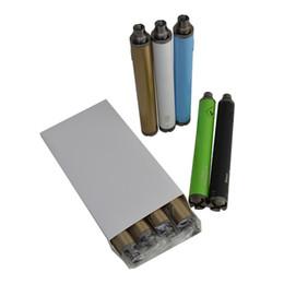 Acheter en ligne Torsion ii-Vision 2 batterie variable ii batterie 1650mAh Ego twist 3.3-4.8V avec le paquet de vente au détail facile à transporter