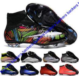 Wholesale Mens Kids CR7 Mercurial x EA SPORTS Superfly FG Soccer Shoes Magista Obra Boys Soccer Cleats Women Football Boots Youth Cristiano Ronaldo