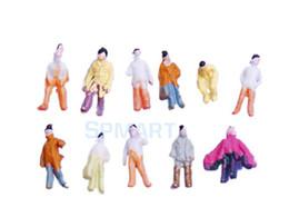 Figuras de la gente modelo en venta-El envío libre al por mayor 100pcs pintó a la gente modelo del tren escala la escala Z (1 a 200)