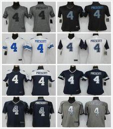 Vente en gros Nouvelles femmes # 4 Dak Prescott maillots de football S - XXL couture Nom et Logos Bienvenue à la commande à partir de nouvelle femme jersey fournisseurs