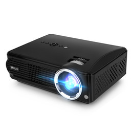 Wholesale Lcd Projector Build Hdmi - US Stock! iRULU P4 Projector HD LED Projectors 2800 Lumens Brightness Native Resolution 1080P Built-in TV Turner Home Theater Projectors