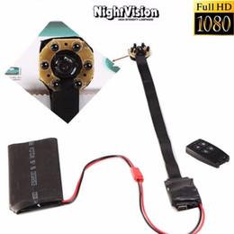 Acheter en ligne Enregistrement vidéo cachée-1080P HD Portable Module Caméra Cachée IR Night Vison Video Recoder Nanny Cam Sécurité Survellence Camcorder Support Loop Recording