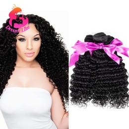 Promotion 24 profonds faisceaux de cheveux bouclés Deep Wave Brésilien cheveux 4 paquets / lot 100% non transformés cheveux humains profond bouclés Tisse Affordable 9A Grade Brazilian Virgin Hair Extensions