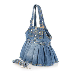 Wholesale new fashion small jeans cloth handbag ladies high quality material women s crossbody bags colors for shopping sac a main
