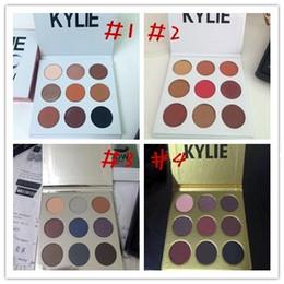In stock Christmas kylie holiday edition eyeshadow palette Kylie Gold Birthday Eyeshadow Burgundy Eyeshadow Gold Metal DHL free shippingl