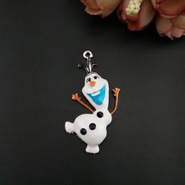 Acheter en ligne La réalisation de films-100pcs Lot 20pcs Hot Sale Cartoon Movie Frozen Olaf Metal Charms Bijoux DIY Création Accessoires Pendentifs