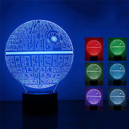 Wholesale 3D Death Star USB Color Changing Touch Control Night LED Desk Table Night Light Lamp For Party Baby Kids Room Living Room
