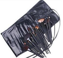 100sets lots 32PCS Cosmetic Makeup Make Up Makeup Brushes Brush Set + Leather Case