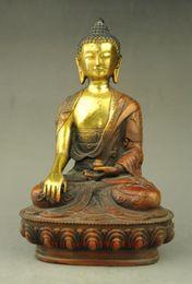 Tibet Laiton Bouddhiste Temple Shakyamuni Joss Sakyamuni Bouddha Bowl Statue
