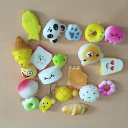 Alta calidad Kawaii Squishies Rilakkuma Donut linda del teléfono correas del bolso encantos Slow Squishies de levantamiento Jumbo Buns baratos encantos bolso del bolso Squishy