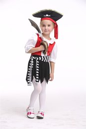2017 Halloween latest children role dress up COS role dress up pirate suit make-up party birthday party