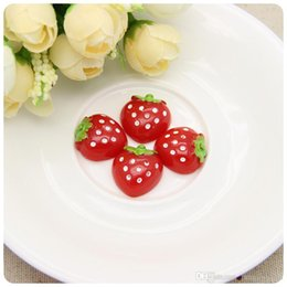 Diy headgear accessories High quality resin jewelry accessories Strawberry shape of coloured drawing or pattern Manufacturer direct spot
