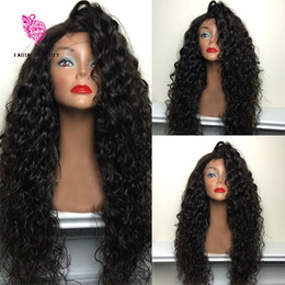 Wholesale 180 Density Virgin Brazilian Human Hair Curly Lace Front Wigs Glueless Full Lace Human Hair Wigs With Baby Hair For Black Women