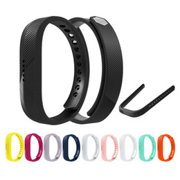 Small Large Replacement Soft TPE Colorful Classic Wrist WatchBand Strap Buckle for Fitbit Flex 2 Wrist Watch Design FC0065