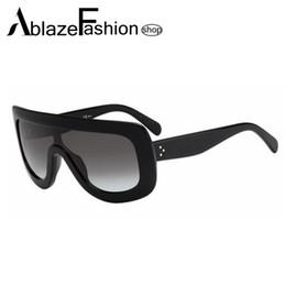 Gafas de diseño fresco en Línea-Las gafas de sol de gran tamaño del espejo del diseñador de la marca de fábrica estupenda al por mayor-Nuevo 2016 de la estrella estupenda refrescan los vidrios de Sun del punto de los hombres de las mujeres Lunette De Soleil UV400