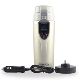 Wholesale Top quality V Car Electric cup Auto Thermal Travel Cup Thermos Bottle Heating Mug Vehile cup Boiling Water