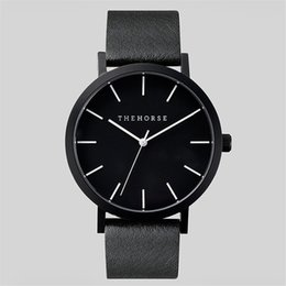 Wholesale luxury The Horse leather watches Brand Quartz Women mens casual Watches fashion Ladies Female Clock Wrist Watch