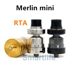 Atomiseurs gros à vendre-1PCS Vente en gros AUGVAPE Merlin Mini RTA Atomizer 2ml Simple bobine double Deck Bottom Dual Airflow Merlin Mini Tank VS Geekvape Ammit tank