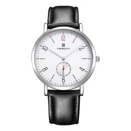 TW1632 TOP 3ATM ultra thin Men Quartz Watch Slim Casual Wristwatch Business Stainless Steel Analog women Quartz Watch Men's Relojes Hombre