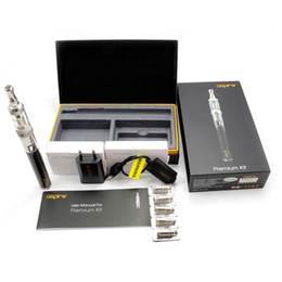 Wholesale Eigate 100% Original Aspire Premium Kit ecigarette with 1000mah CF VV+ Battery And Nautilus Mini Tank 2ml