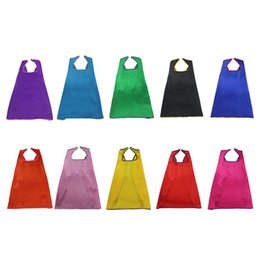 L27* Boys&Girls 10 capes pure color for Christmas costume birthday party cosplay costumes school concert activity for 3-10 years old