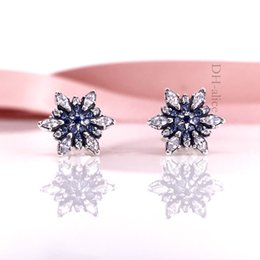 Hotsell Authentic 925 Sterling Silve Women Earring Crystallised Snowflake Stud Earrings Compatible European Style Jewelry 290590NBL