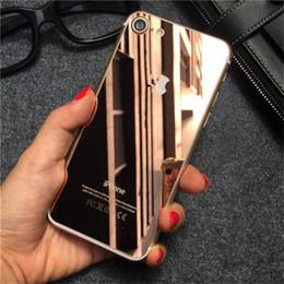 Acheter en ligne Plaque d'écran-Protecteur de miroir de corps plein trempé pour l'iphone 7 Plaqué Front + Couverture de film d'autocollant de protecteurs d'écran arrière pour l'iphone 7 6 6s plus l'iphone 5 5s 4