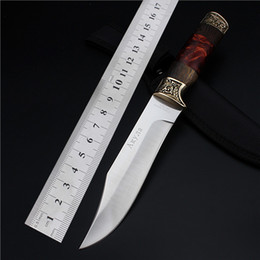 Wholesale 2016 Top Fashion Wood Sale Rushed Navajas Outdoor Small Straight Self defense Wilderness Survival The Cutter With Metalworking Knife
