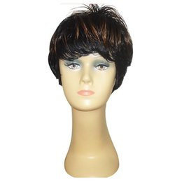 Fashion Hairstyles Synthetic Hair Wigs Short Straight Cheap Mix Color Wigs Adjustable Cap Party Wigs