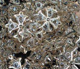 DIY fashion style Rhine Stone Pendant gold cross size about 27mm 50pcs free shipping trumpetflower