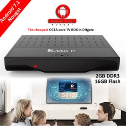 Promotion wifi g Android Smart TV Box 2 Go 16 Go Amlogic S912 KODI HDR10 4K 802.11 b / g / n WIFI LAN Octa Core Mecool KM8 P