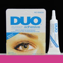 Wholesale World s best selling adhesive DUO WATER PROOF FALSE EYELASH ADHESIVE EYELASH GLUE Eyelash Adhesive G Makeup Tool White