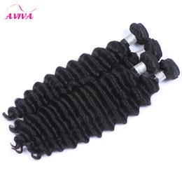 Malaysian Deep Wave Curly Virgin Hair Extensions 3Pcs Lot Unprocessed Malaysian Deep Wave Curly Remy Human Hair Weave Bundles Double Wefts