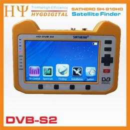 Genuino Satero SH-910HD DVB-S2 Satélite Digital Buscador Satfinder HD con Analizador de Espectro en Tiempo Real Función HD Outpu desde buscador hd sathero fabricantes