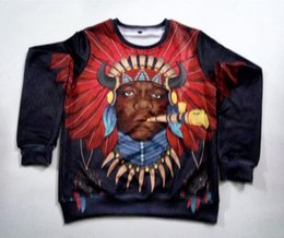 Real USA Size Native Notorious BIG 3D Sublimation print Crewneck Sweatshirt unisex custom made streetwear plus size