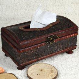 Wholesale Pc CM Elegant Crafted Wooden Antique Handmade Old Tissue Box Antique Tissue Box