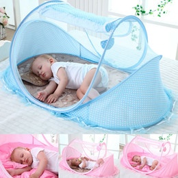 Wholesale Infant Baby Folding Ger Type Mosquito Nursery Cradle Insect Bed Crib Ne t Canopy Tent Solid Color Portable Summer Necessary