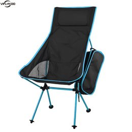 Wholesale Outdoor Folding Chair Portable Foldable Fishing Chair Aluminum Alloy Stool Seat withpillow for Picnic BBQ Beach Hiking Camping