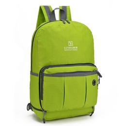 2017 unisex sports outdoor folding bag tote Bag travel backpack portable shoulder climbing mobile phone waterproof bag