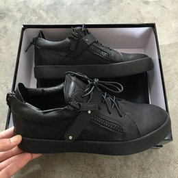 2017 hot sales new fashion men's and women's shoes,zanottys black genuine leather metal chain high-top for casual shoes size35-46