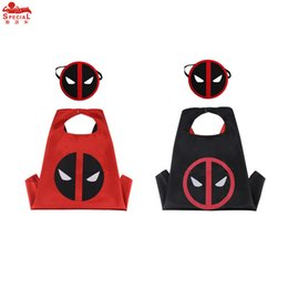 L27* Deadpool 1 cape +1 mask for kids birthday gift Halloween Christmas Outdoor Parents-child campaign cosplay mask party