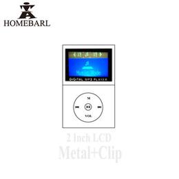 Mp3 mémoire lecteur 1gb en Ligne-Wholesale-Hot 1.2 '' LCD Screen Metal Mini Portable Clip MP3 Player Avec Micro TF / SD Memory Card Slot + Charge USB Cable.No FM Radio 2B68